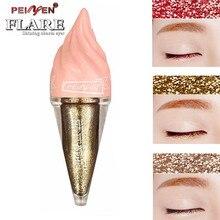 Shimmer Eyeliner Candy Color Cute Ice Cream Shaped Shining Liquid Eyeliner Pen Cosmetics Long Lasting Easy Wear Makeup Eye Liner