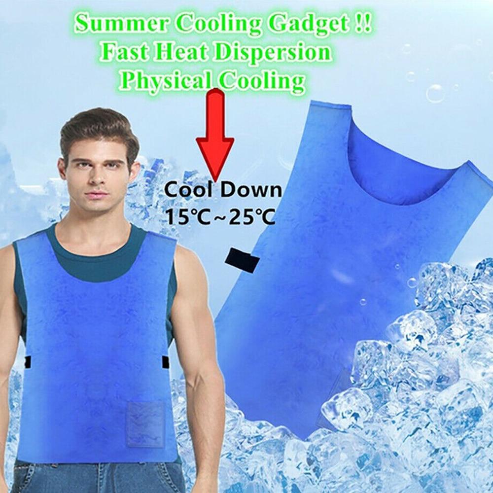 2019 verano frío Anti-calor Chaleco de enfriamiento PVA tela impermeable de alta temperatura de protección de hielo al aire libre senderismo chaleco Dropshpping
