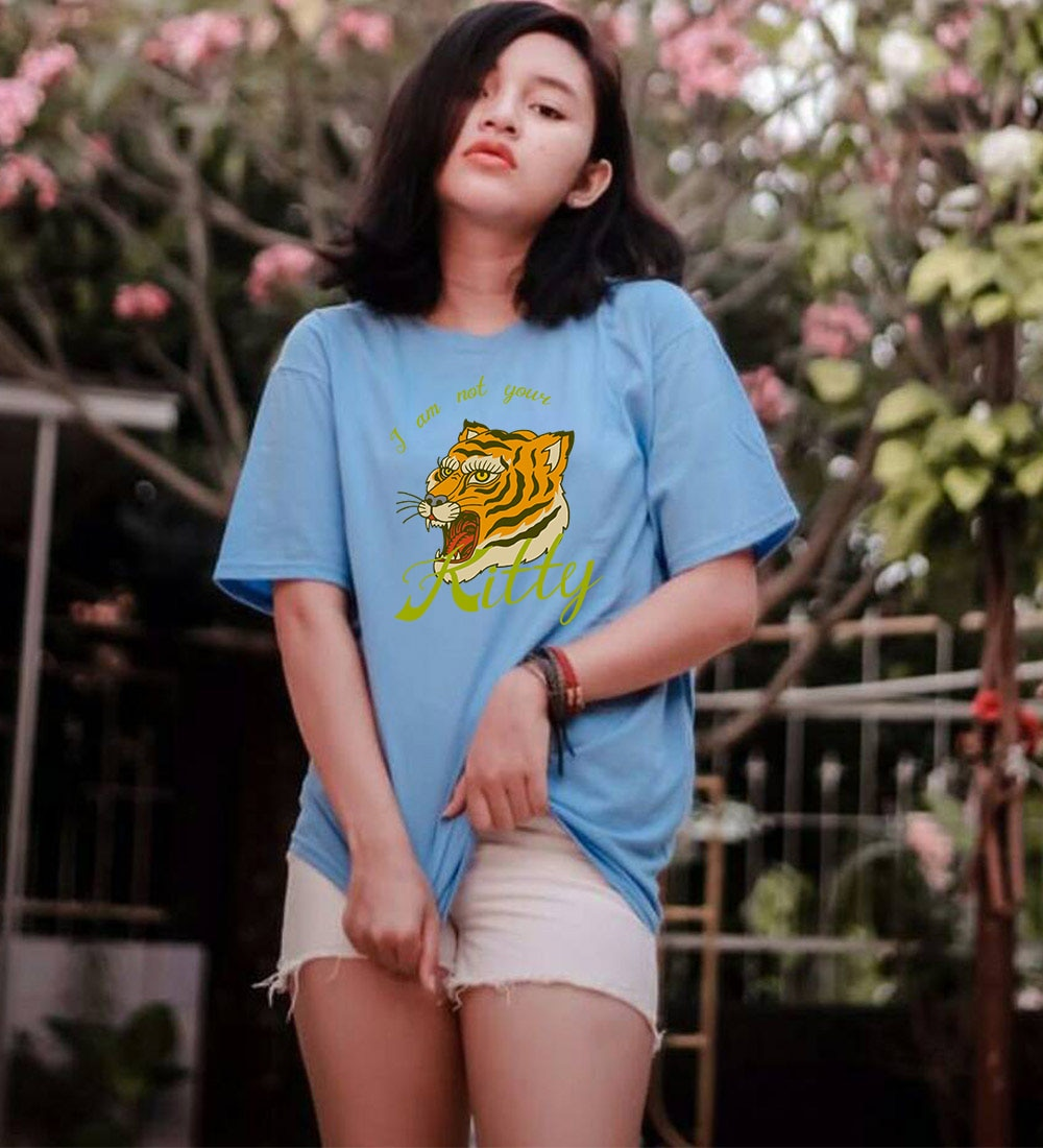Lustige Gedruckt T-Shirt Femme Retro Anime Tiger T-shirt Plus Größe Casual Plain T Hemd Frauen Ästhetischen Feministischen t-shirt