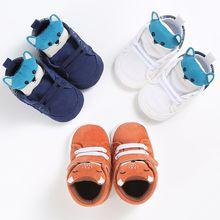 Chaussures dautomne pour bébé garçon fille   1 paire, tête de renard en tissu de coton, pour premier marcheur, semelle souple antidérapante