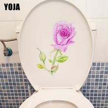 YOJA 18*23CM Hand Painted Noise Rose Creative Bedroom Wall Sticker Decal Toilet Bathroom Decor T1-0528