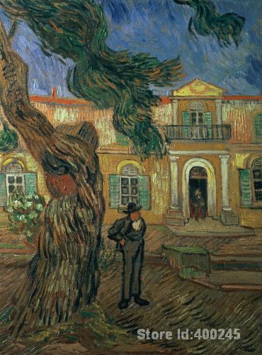 Mejor reproducción de arte St. Pauls Hospital St Remy Vincent Van Gogh pintura en venta pintado a mano de alta calidad