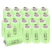 24 sztuk/partia 2/3AA NICD baterie 1.2 V 600 mAh NI CD baterie akumulatory z skontaktuj się z
