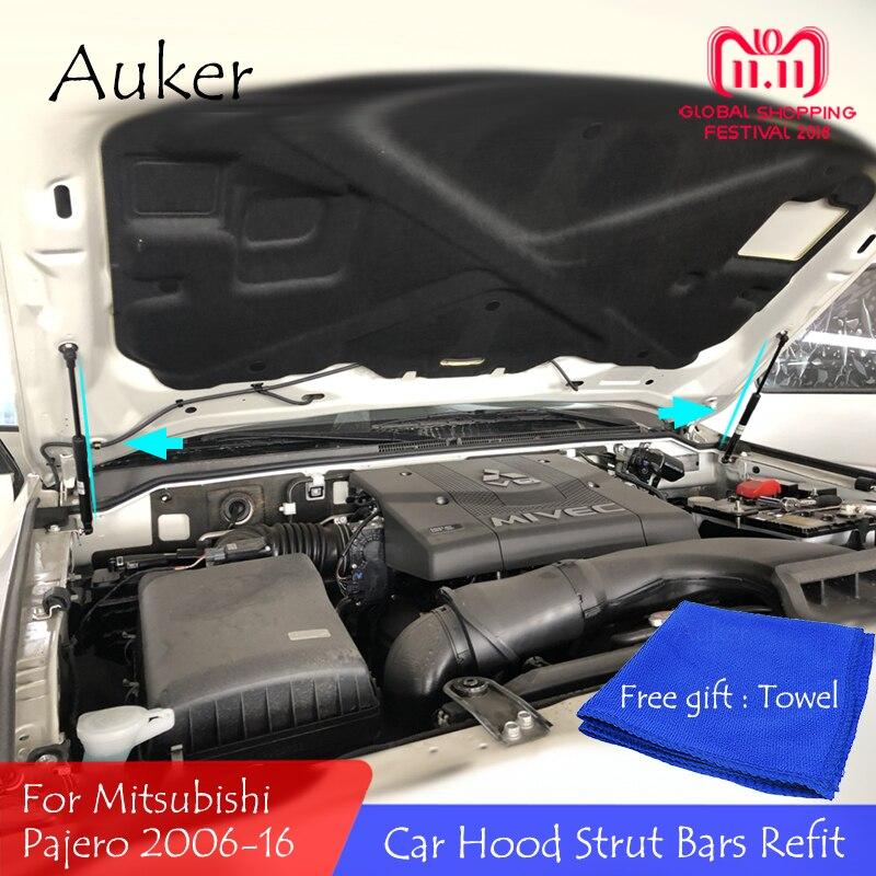 Für 2006-2016 Mitsubishi Pajero Front Hood Motor Unterstützung Hydraulische rod Strut Frühling Schock Bars Halterung Auto zubehör