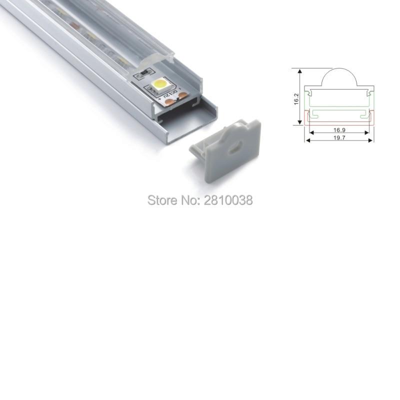 10 X 2M Sets/Lot 45 degree corner beam aluminium profile for led strips and U type alu led profile housing for ceiling lamps
