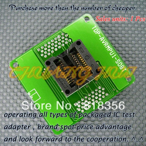 TOP-AVRMPU1-SO8T Programmer Adapter SO8 SOIC8 SOP8 IC Test Buchse