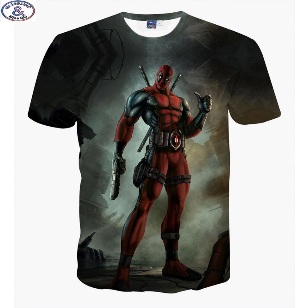M1.1991 lo más nuevo en llegar a Estados Unidos dibujos animados Anime Bad guys Deadpool 3D impreso camiseta niños grandes niños adolescentes camiseta camisetas para niños A12