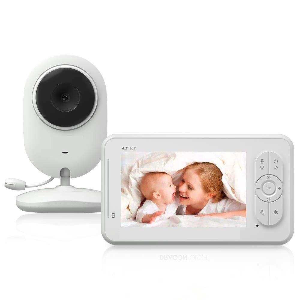 925 bebe lloron baba anruf nanny cam bebek telsizi 4,3 inch LCD naninha IR Nacht Vision Intercom Temperatur Senor Fütterung alarm