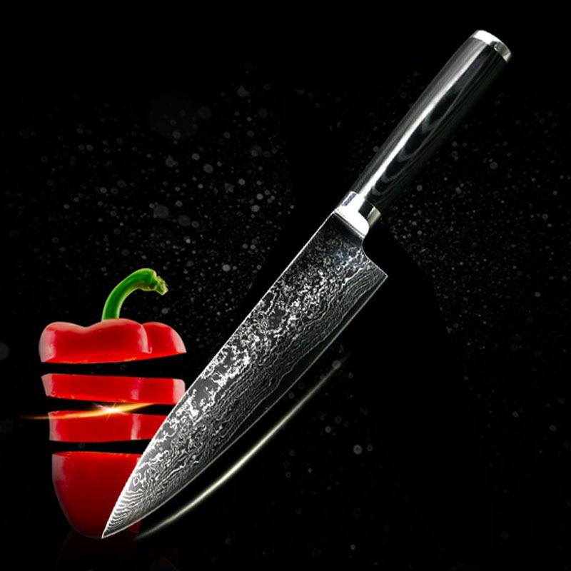 FINDKING, nuevo cuchillo de cocina con mango de Mikata cuchillo de acero de Damasco de 8 pulgadas, 71 capas, cuchillos de cocina de acero damasco, herramientas de cocina