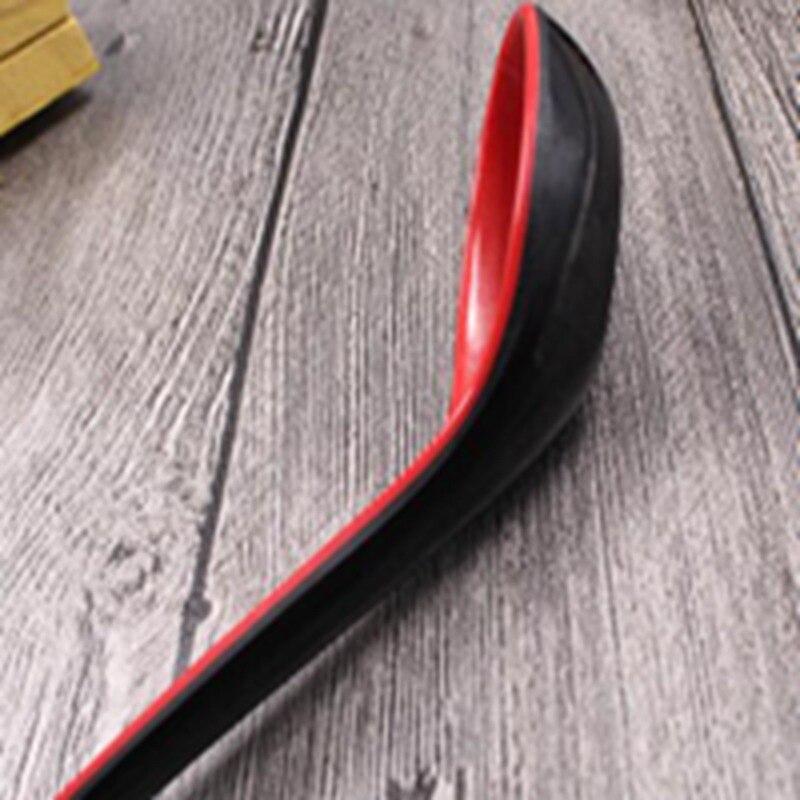 6 unids/set de doble Color con cuchara de sopa de gancho cuchara de Color rojo y negro imitación de porcelana densa cuchara de sopa de restaurante ZLL9034
