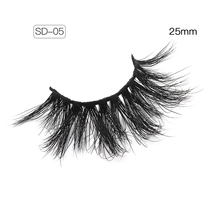 25mm 3D Thick Messy Crisscross False Eyelashes Natural Fluffy Handmade Fake Eyelashes For Beauty Extension Makeup Tool SD-05 недорого