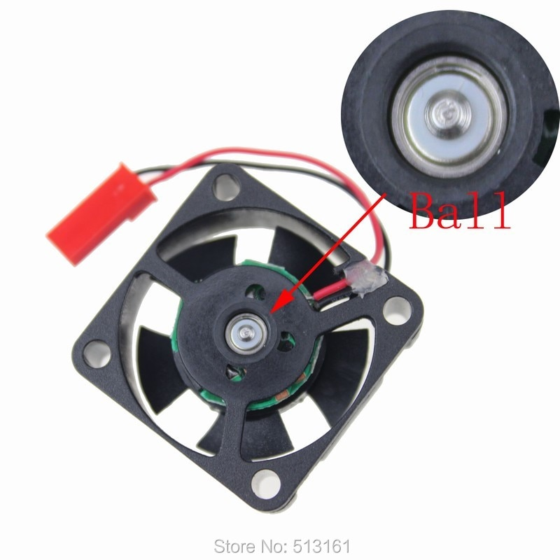 2 Pieces/lot GDT 2510 25mm x 25mm x 10mm JST Connector 12V 25mm DC Cooling Fan