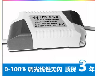 5pcs one lot  0-100% dimmable led driver  with IC 6-18*1W dimmable led bulb driver power