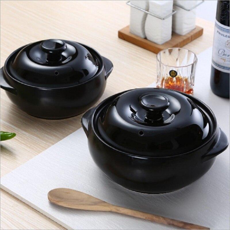 Macarrão de Arroz Caçarola de Cerâmica Coreano Calor Caçarola-resistente Dois Orelha Especial Grande