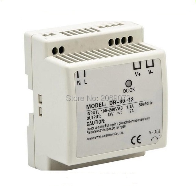 Fuente de alimentación de carril Din 30w 12V, fuente de alimentación de 12v/5V/24V 30w ac dc, convertidor de buena calidad dr-30-12/5/24