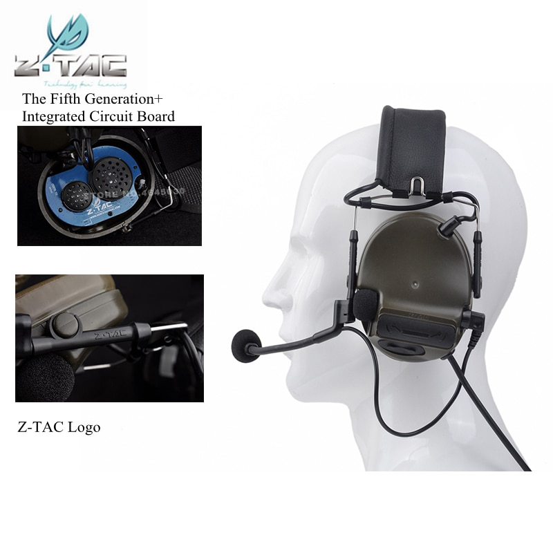 Z-Tactical Airsoft Aviation Comtac III Headset C3 Peltor Noise Canceling Headphone Softair Military Hunting Earphone enlarge