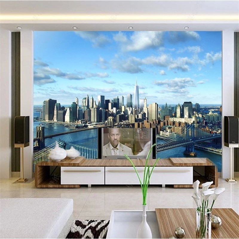 naked new york paper beibehang Custom 3d photo wall paper architecture New York City World 3d mural wallpaper for walls flooring paper papel parede