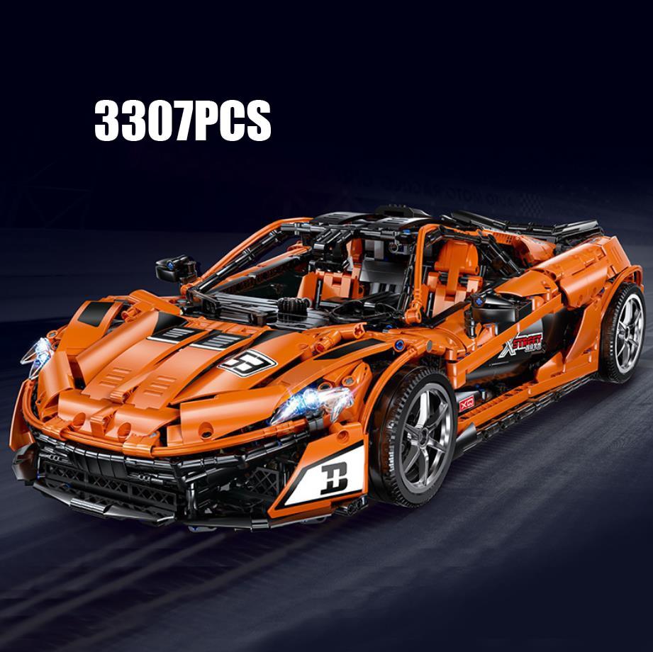 Técnicas de control remoto de coche súper deportivo escala 18 Mclaren P1 bloque de construcción moc modelo de bloque 2,4 ghz rc juguetes colección para regalos