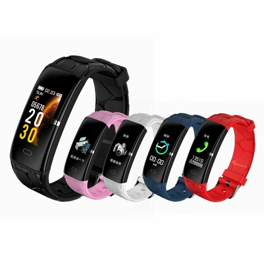 2019 Akıllı Bant egzersiz kalp atışı takip cihazı 0.96 inç IPS Renkli Ekran akıllı bilezik Su Geçirmez Bileklik Kadın akıllı saat E58