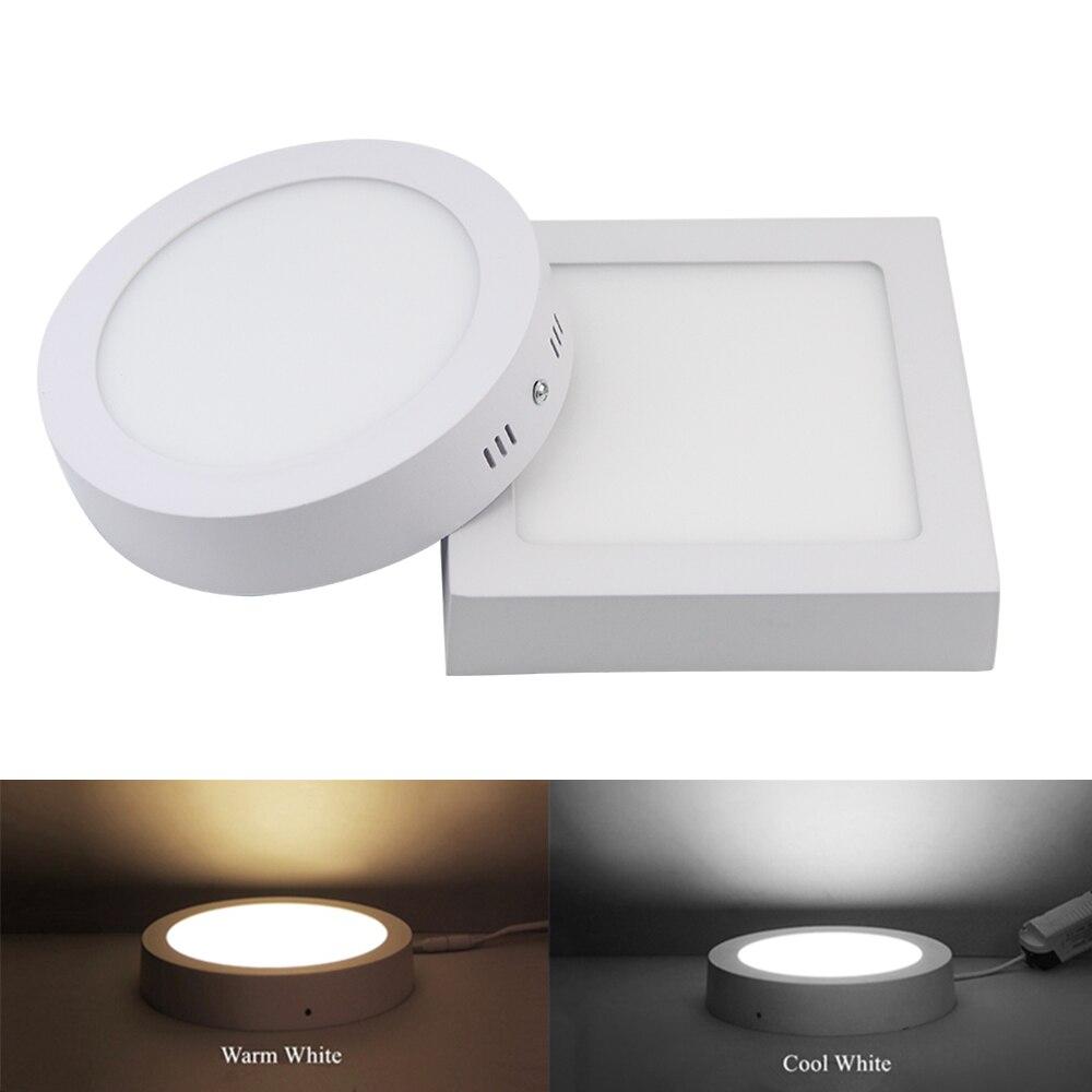 9 W 15 W 25 W okrągły/kwadratowy powierzchni LED panel oświetlenia sufitowego światło W dół światła 85-265 V LED światło w pomieszczeniach