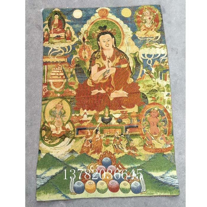 Pintura colgante de seda del Tíbet de Nepal, Buda tibetano exorcista