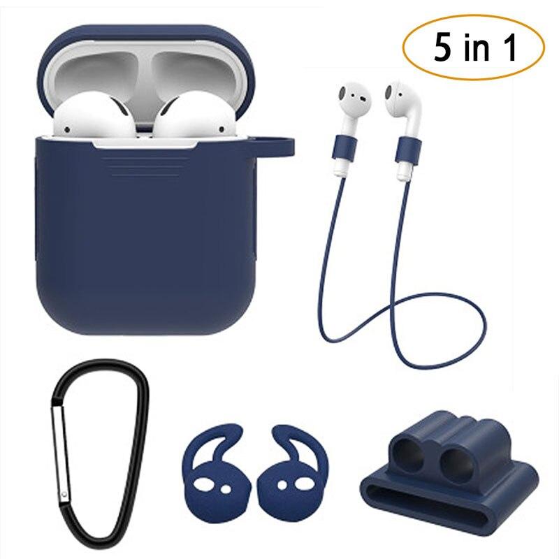 Nuevo juego de 5 unidades de auriculares inalámbricos Bluetooth, estuche de silicona para Airpods I Phone I10 I30, auriculares TWS, accesorios de protección