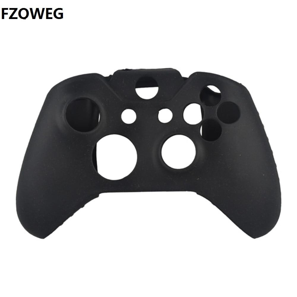 FZQWEG BlackSilicone Rubber Skin Protective Case Cover For Microsoft Xbox One S Controller