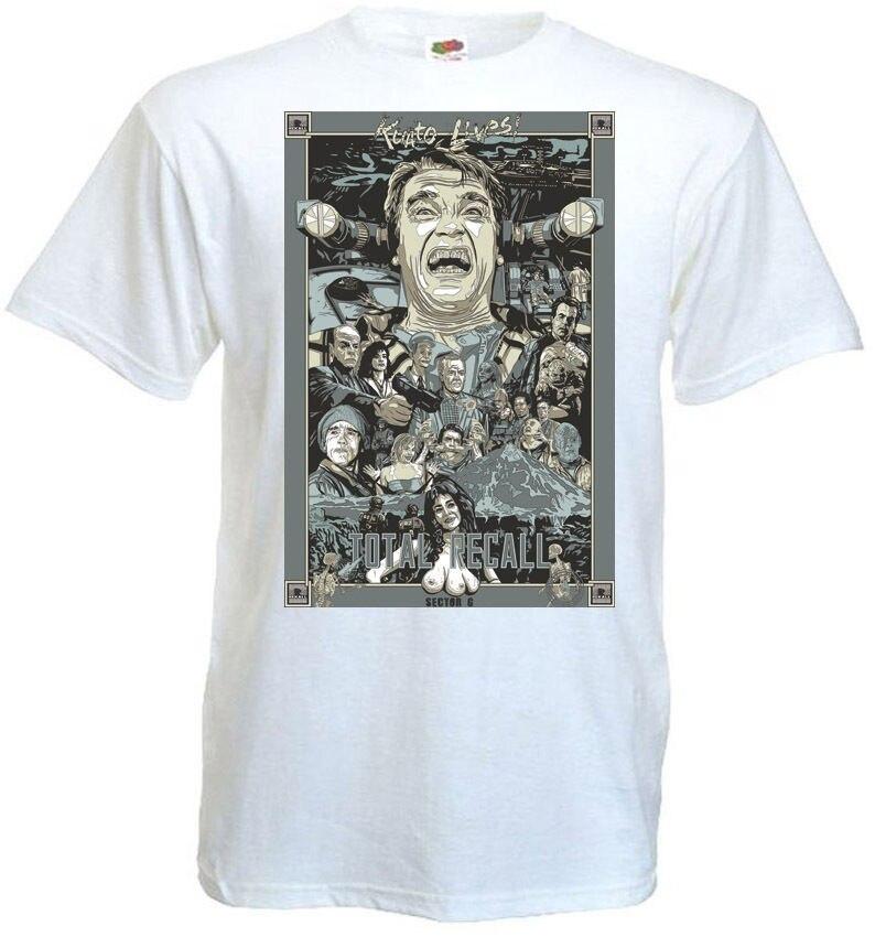 Total Recall V7 camiseta blanca Poster todas las tallas S-3XL moda hombres y mujeres camiseta envío gratis Retro camiseta