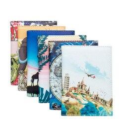 UV Impresso Colorido ID Titular Do Cartão de Passaporte Cobre Flamingo Africano Cenário Ponto Passaporte Carteira de Impressão a Cores Personalizadas A Granel