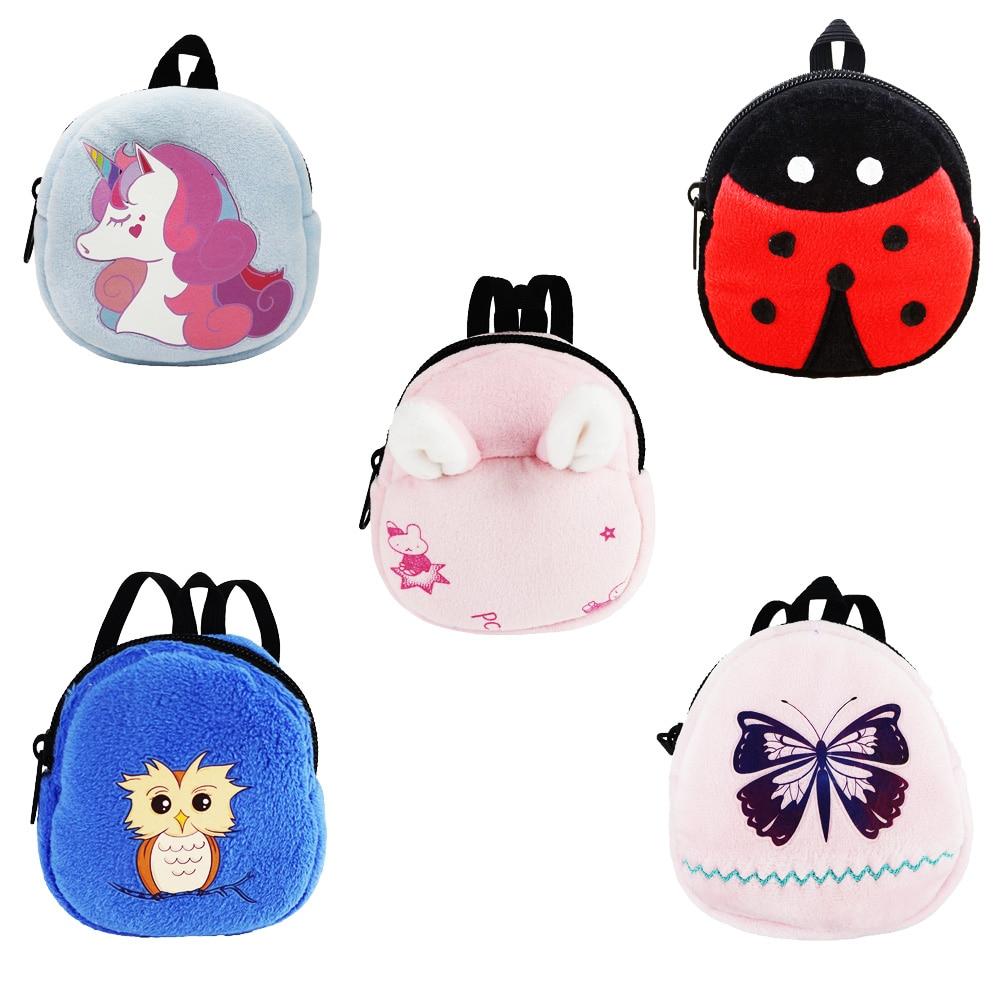 Accesorios para muñecas 5 bolsas de animales mochila de unicornio para muñeca americana de 18 pulgadas/muñeca de 17 pulgadas/muñeca nenuco de 16 pulgadas mejores regalos