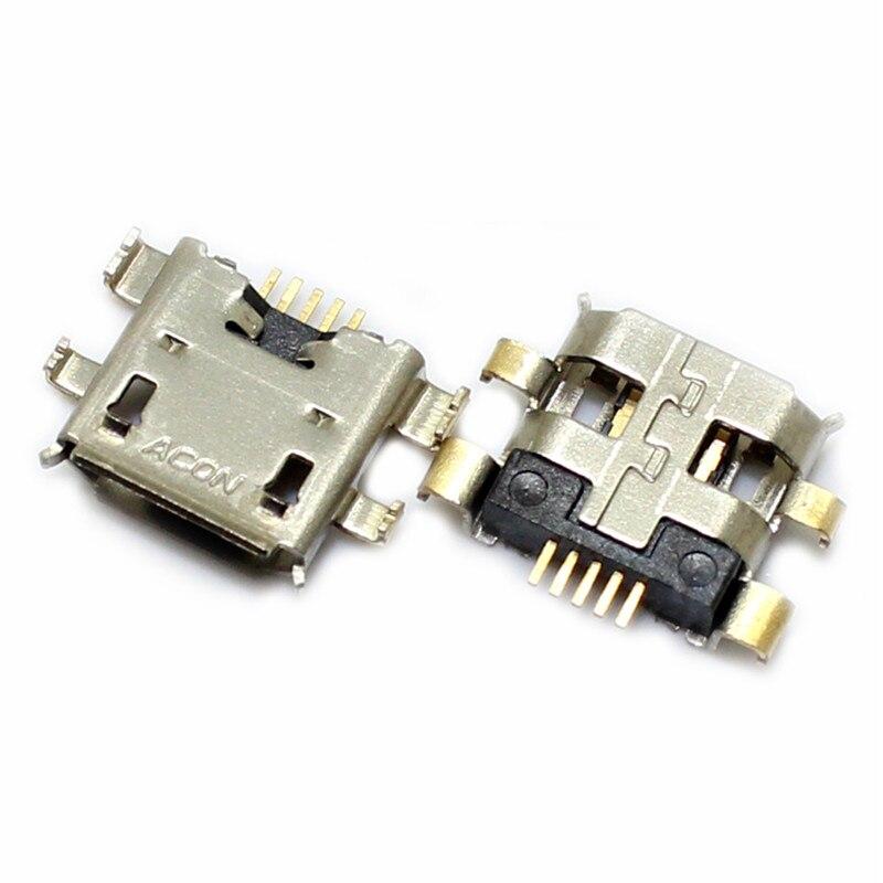 2 unids/lote Conector Micro USB Jack hembra para ASUS ZenFone 2 5 6 ZE550ML A500CG A600CG ir ZC500TG de puerto de carga toma de carga