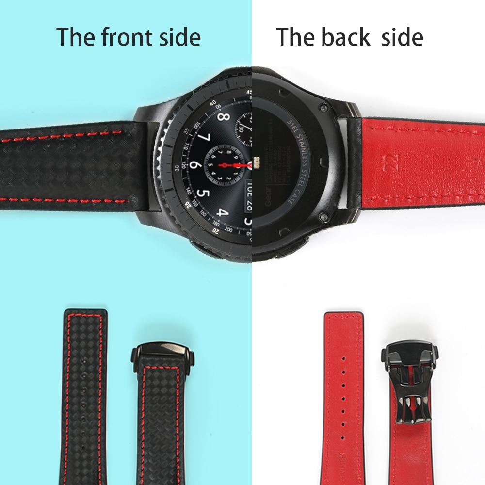 Ремешок для часов, классический, из натуральной кожи, для Samsung Gear S3, 22 мм