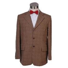 Envío Gratis médico que 11th undécimo Doctor chaqueta traje de Cosplay traje de hombre abrigo prendas de vestir