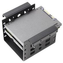 Nouveau 2.5 à 3.5 pouces disque dur support de montage Kit HDD SSD SATA baie convertisseur