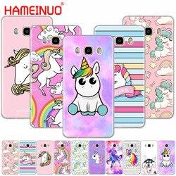 HAMEINUO Rainbow Unicorn case capa do telefone para Samsung Galaxy J1 J2 J3 J5 J7 MINI ACE 2016 prime 2015