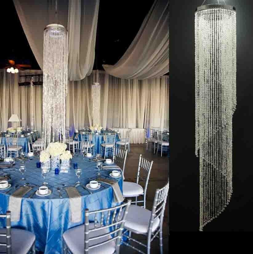 Casa boda escenario hotel techo centros de mesa decoración lámpara de techo de cristal Decoración Luz cubre envolturas