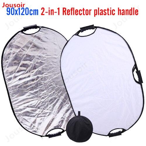 Reflector de iluminación fotográfica Multi-disco plegable de 90x120cm para estudio fotográfico con barra de Asa carrybagCD15