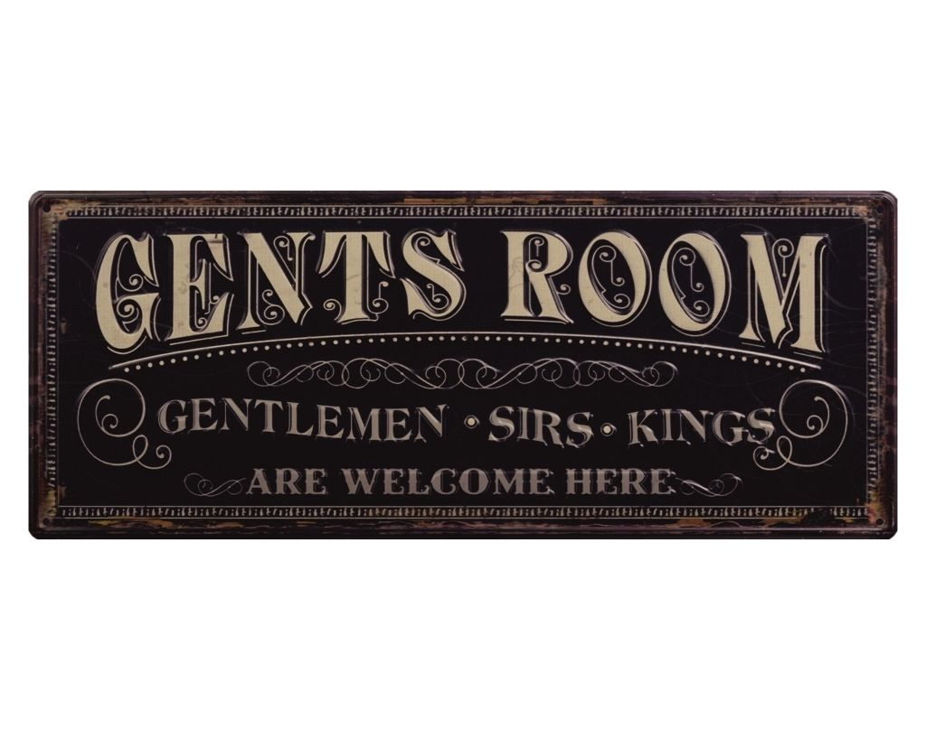 La Sala de Caballeros de la vieja escuela Aufkleber de Toiletten manera Mann WC