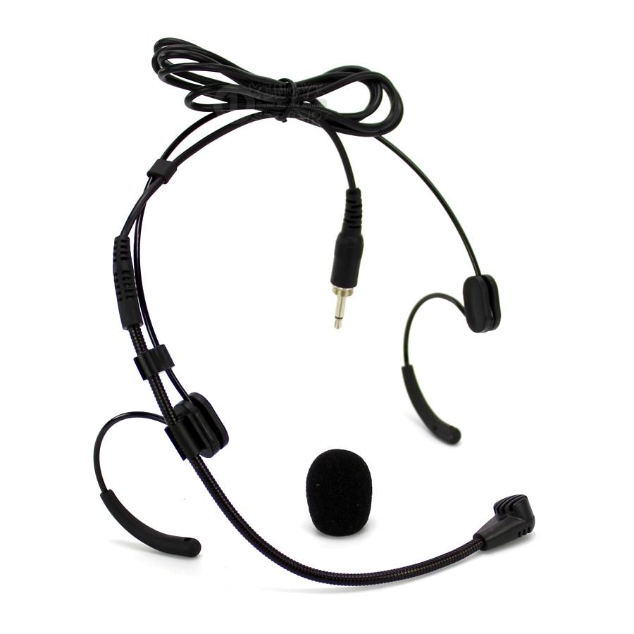 Micrófono de condensador con gancho de oreja doble con cable, conector macho...