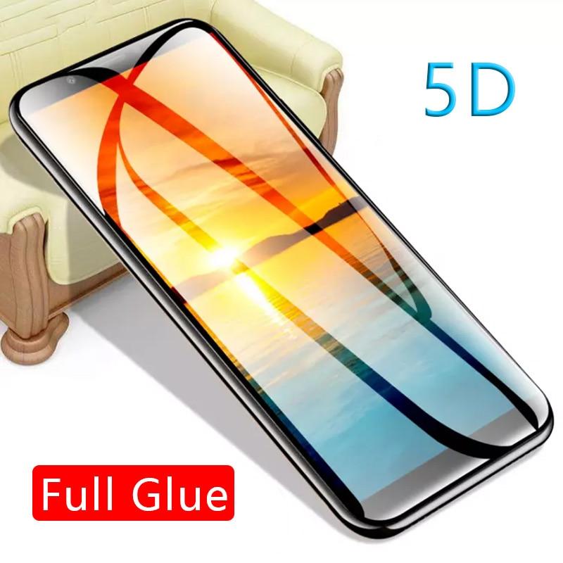 5d полностью проклеенное закаленное стекло для huawei y5 y6 y7 prime 2018 y9 2019 чехол Защитная пленка для экрана Защитная пленка для телефона tremp on honor