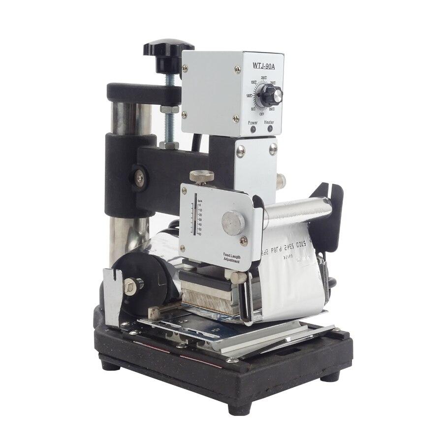 1 Uds máquina de estampación en caliente para tarjeta de PVC miembros Club caliente estampado, bronceado de WTJ-90A