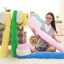 4 couleurs de 90CM une pièce créative brosse à dents oreiller en peluche brosse oreillers de couchage en peluche jouet canapé décoration maison coussins