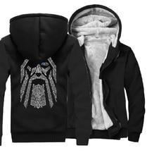 Odin Vikings sweats à capuche pour hommes 2019 nouvelle mode laine doublure Camouflage manches manteaux hiver sweat raglan imprimer veste survêtement