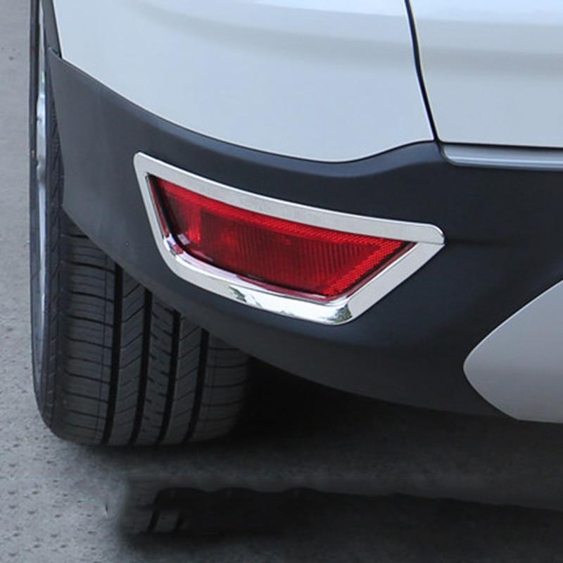 ABS хромированная лампа заднего противотуманного фонаря, накладка на заднюю часть, декоративная рамка для Ford Kuga Escape 2013-2018, автомобильные аксессуары