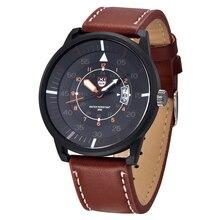 XINEW Genuine Brand Leather Watch Men Luxury Brand Quartz Watch Analog Display Date Casual Watch Men Watches relogio feminino