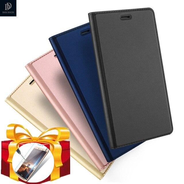 Regalo) DUX DUCIS, Funda de cuero abatible de lujo para Huawei P20 Pro P8 P9 P10 Nova Lite Y6 Honor 9 8 Dual Sim, billetera de cuero PU, libro