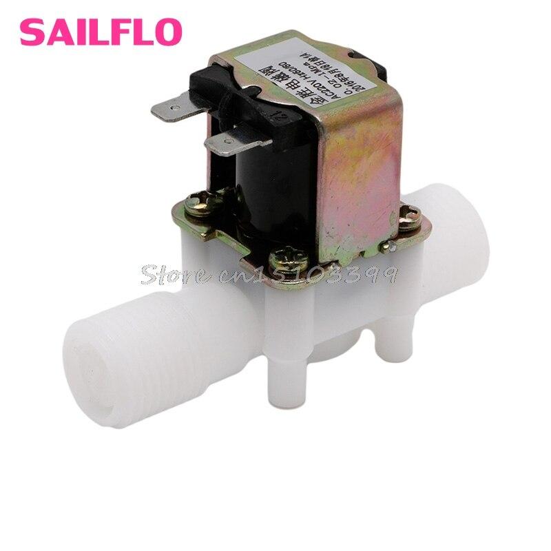"Ac220v válvula solenóide elétrica magnética n/c água interruptor de fluxo entrada ar n/c 1/2 ""navio da gota"
