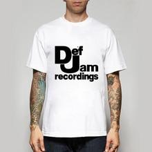 Мужские и женские летние футболки Def jam, повседневные музыкальные ретро-футболки большого размера и Colo-A339