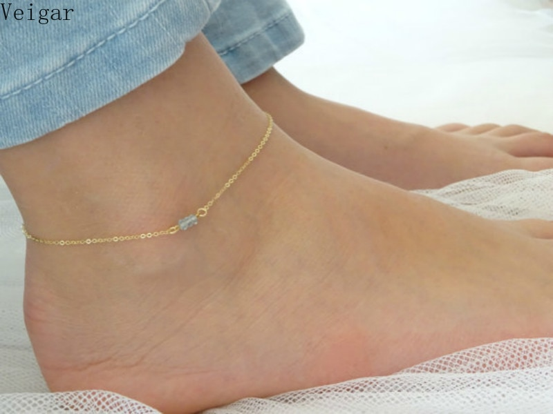 2018 Simple Delicate Gold/Silver Color Foot Chain Anklet Bracelet Body Bijoux Jewelry Ankle Bracelets for Women Chaine De Pied