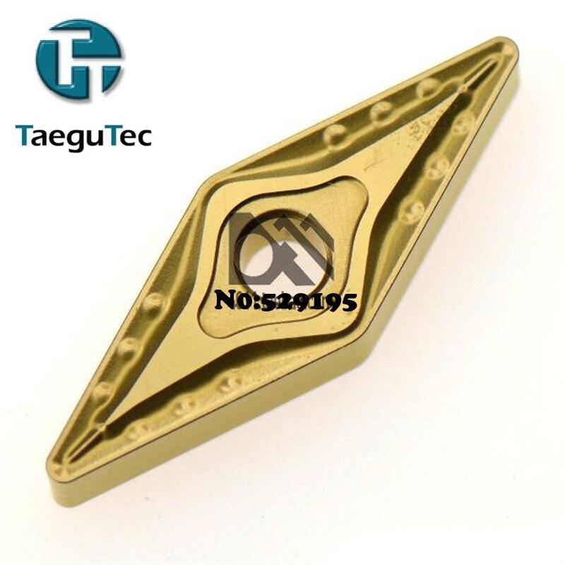 TaeguTec tttt5100 vvnmg 160408 herramientas de corte de torno de inserción Original herramientas de corte de carburo insertos de acero de procesamiento